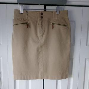 Ralph Lauren Tan Fall Skirt Size 10